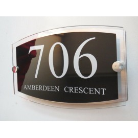 Personalised Contemporary House Signs Plaques Door Numbers 1 - 9999 Name Plate