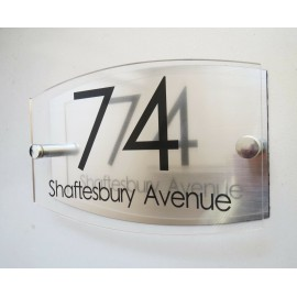 Contemporary House Sign Plaque Door Number 1 - 9999 Personalised Name Plate